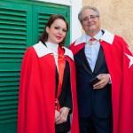 Two Ambassadors a Priors share a moment before ceremonies begin. Valetta, Malta 2019