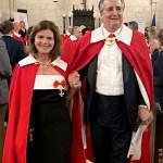 Lady Constance Angleton and husband, Ambassador, Sir James Angleton