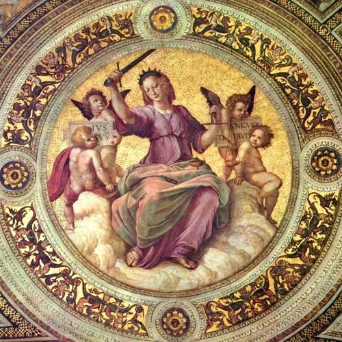 Justice (1509-1511 AD) Raphael Sanzio de Urbino