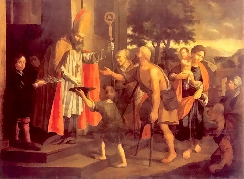 'St Nicholas Giving Alms' by Jan Heinsch