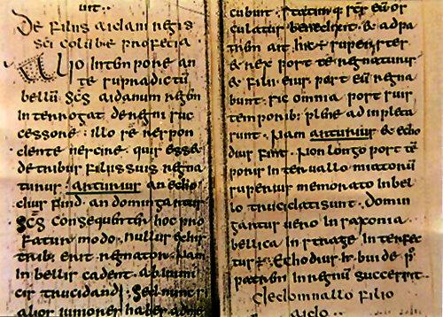 'Vita Columba' by Adomnan (7th century) at Town Library Archives in Schauffhausen, Switzerland