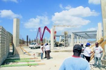 Een integrale inspectie werd gisteren uitgevoerd op de plek waar winkelcentrum Sambil in aanbouw is.