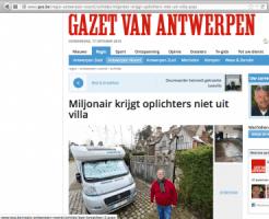Gazet van Antwerpen - Miljonair krijgt oplichter niet uit villa - De Kluis 16-van Assendelft van Wijck