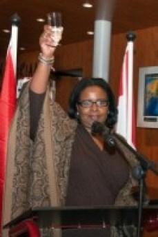 Gevolmachtigde minister Marvelyne Wiels (PS) laat haar stemming niet bederven door de aanhoudende onthullingen over haar handel en wandel. FOTO NICO VAN DER VEN