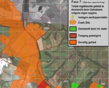 Kaart Crash gebied MH17