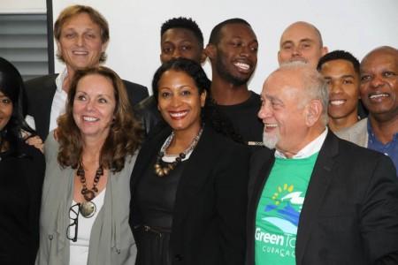Het Greentown team met Voorzitter Andres Casimiri (rechts)