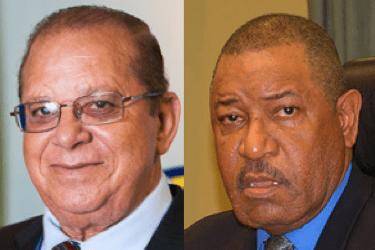 Ministers van Justitie: Elmer Wilsoe (Kabinet Schotte) en Nelson Navarro (Kabinet Asjes)