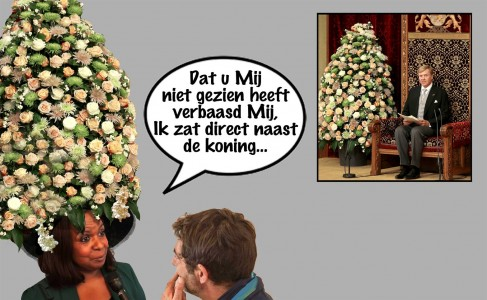 Marvelyne Wiels - Troonrede Prinsjesdag 2015 | Cartoon Pa Stechi