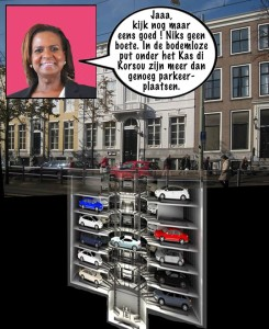 Marvelyne Wiels parkeren | Cartoon Pa Stechi