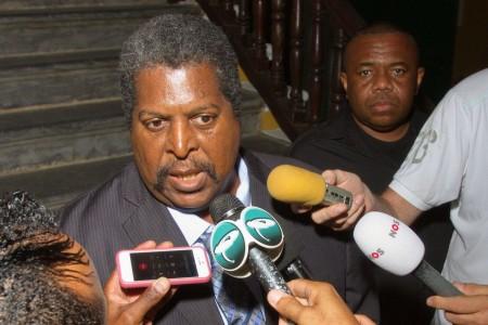 Minister-president Ben Whiteman van Curaçao.