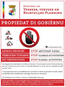 Overheid plaatst borden tegen illegale bouw