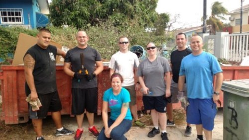USFOL volunteers support SEDA's beautification project