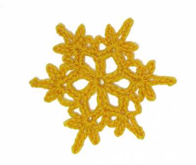 Snowflake Motif  made in finger weight yarn