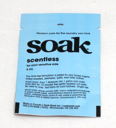 Soak Scentless Single Serving Packet