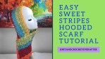 Stripe Hooded Scarf