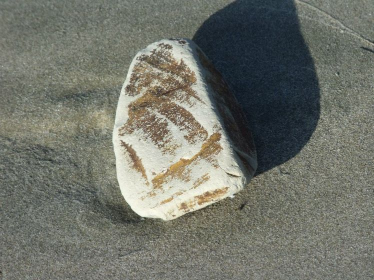Rock with markings