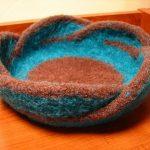 Pentafold Felted Moebius Bowl