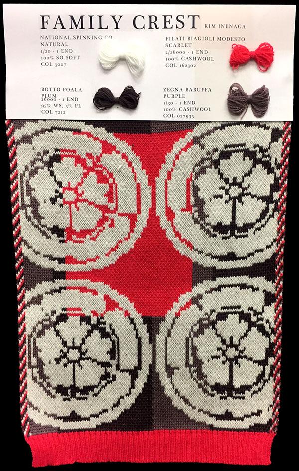 "Designer:Kimberly Inenga-knitGrandeur: FIT & Filati Biagioli and Baruffa Collaboration 2017: Double Jacquard Project Featuring Biagioli ""Cash 30"""