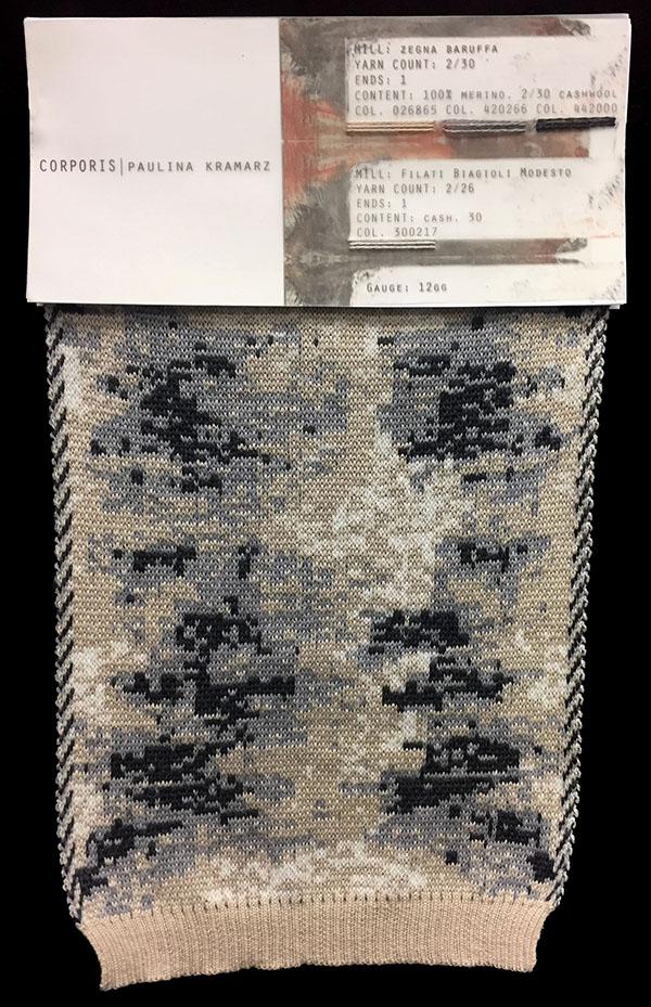 "Designer:Paulina Kramarz-knitGrandeur: FIT & Filati Biagioli and Baruffa Collaboration 2017: Double Jacquard Project Featuring Biagioli ""Cash 30"""