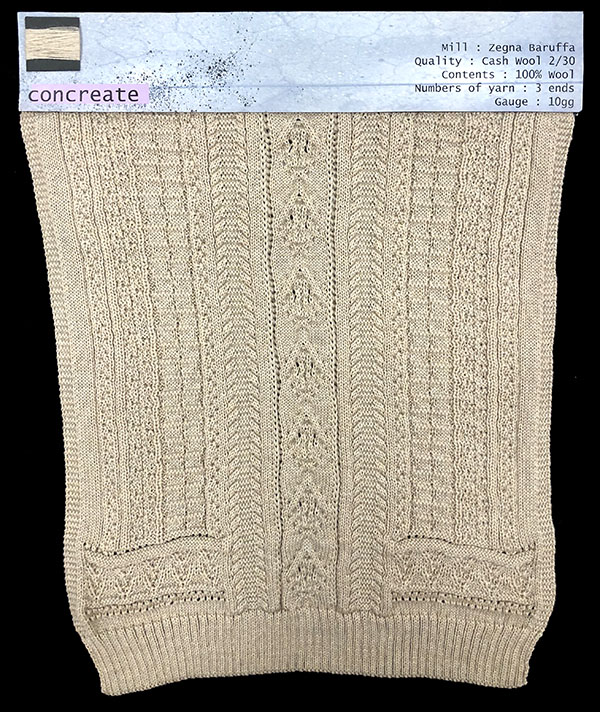 knitGrandeur: Designer: Imdo Lee- FIT Knitwear Specialization, Linear Stitch Design Project 2018