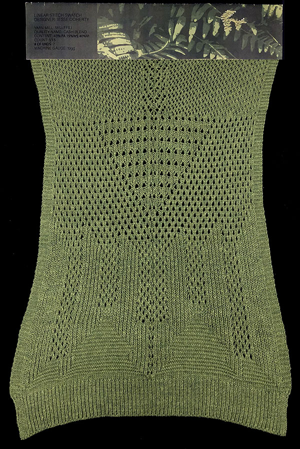 knitGrandeur: Designer: Jesse Doherty- FIT Knitwear Specialization, Linear Stitch Design Project 2018