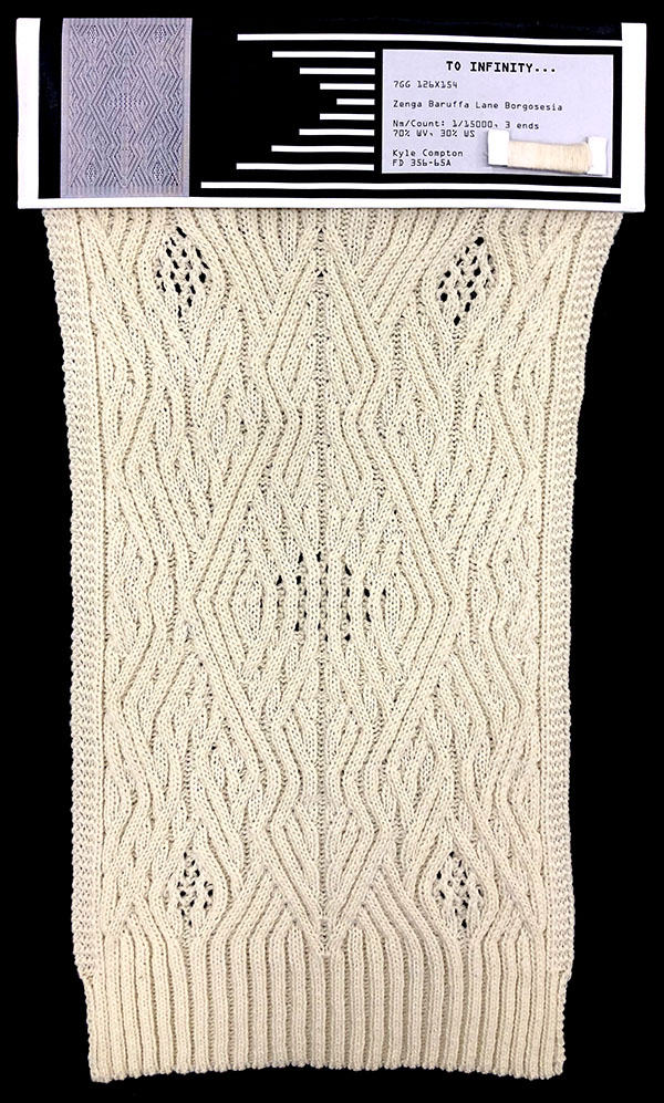 knitGrandeur: Designer: Kyle Compton- FIT Knitwear Specialization, Linear Stitch Design Project 2018