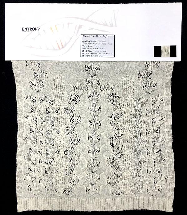 Designer: Danny Lam- knitGrandeur: FIT Knitwear Specialization, Linear Stitch Design Project 2018