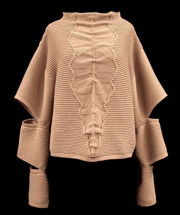 Designer: Kara Richins- knitGrandeur: FIT & Biagioli Modesto Collaboration 2018: Term Garment Project Featuring Cash 30