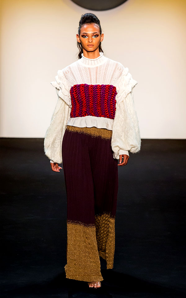 Designer: Phillip Tum Suden- knitGrandeur: FIT The Future of Fashion 2019, Knitwear