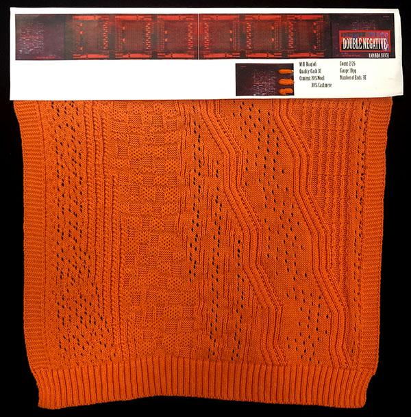 Designer:Amanda Duch- knitGrandeur: FIT & Biagioli Collaboration 2019: Linear Stitch Design Project