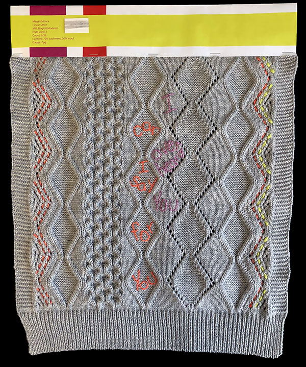 knitGrandeur: Designer: Megan Mosca - FIT & Biagioli Collaboration 2019: Linear Stitch Design Project