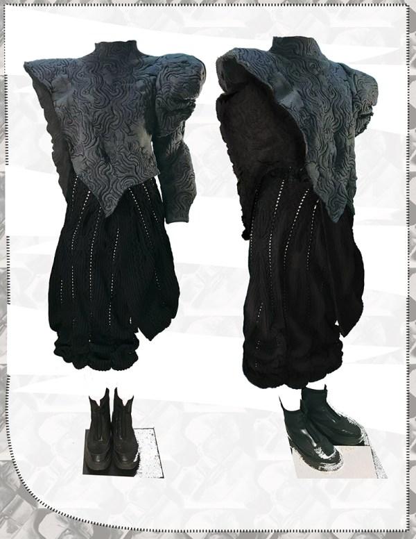 knitGrandeur: Designer: Han Huang: FIT Future of Fashion 2020, Knitwear