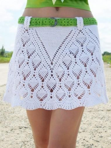Белая летняя юбка