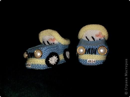 """Вязание: МК пинетки """"Машинки"""""""