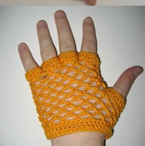 МАСТЕР - КЛАСС: Вяжем митенки крючком без схемы (вяжем по руке)