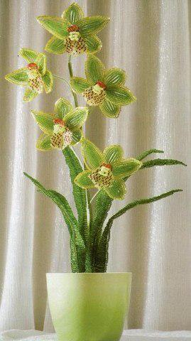 Орхидея бисероплетение