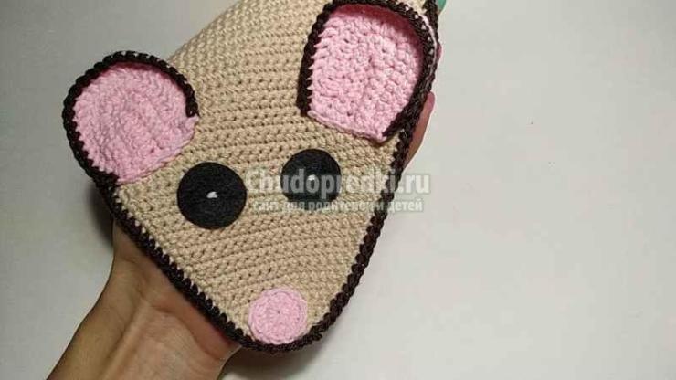 Прихватка вязаная крючком Мышка