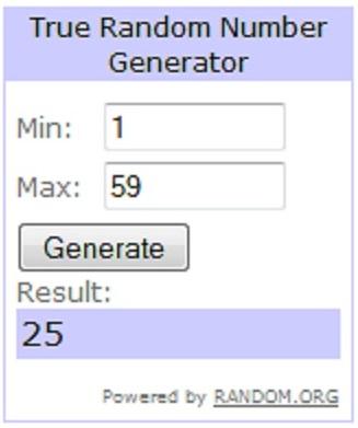 3rd anniversary number generator