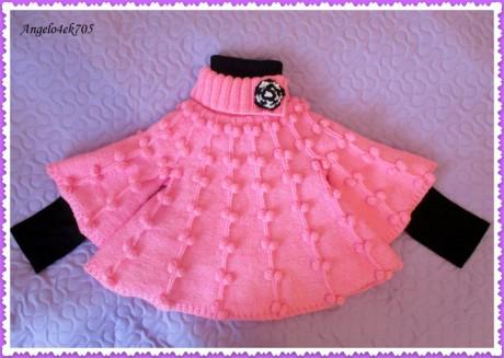 Schémas et description du tricot Poncho