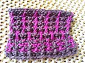 My experimenting with a new mitten pattern