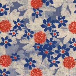 Leftfootdaisy-cotton-steel-Daisy-Fields-Blue