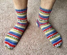 Vanilla Socks with Afterthought heel