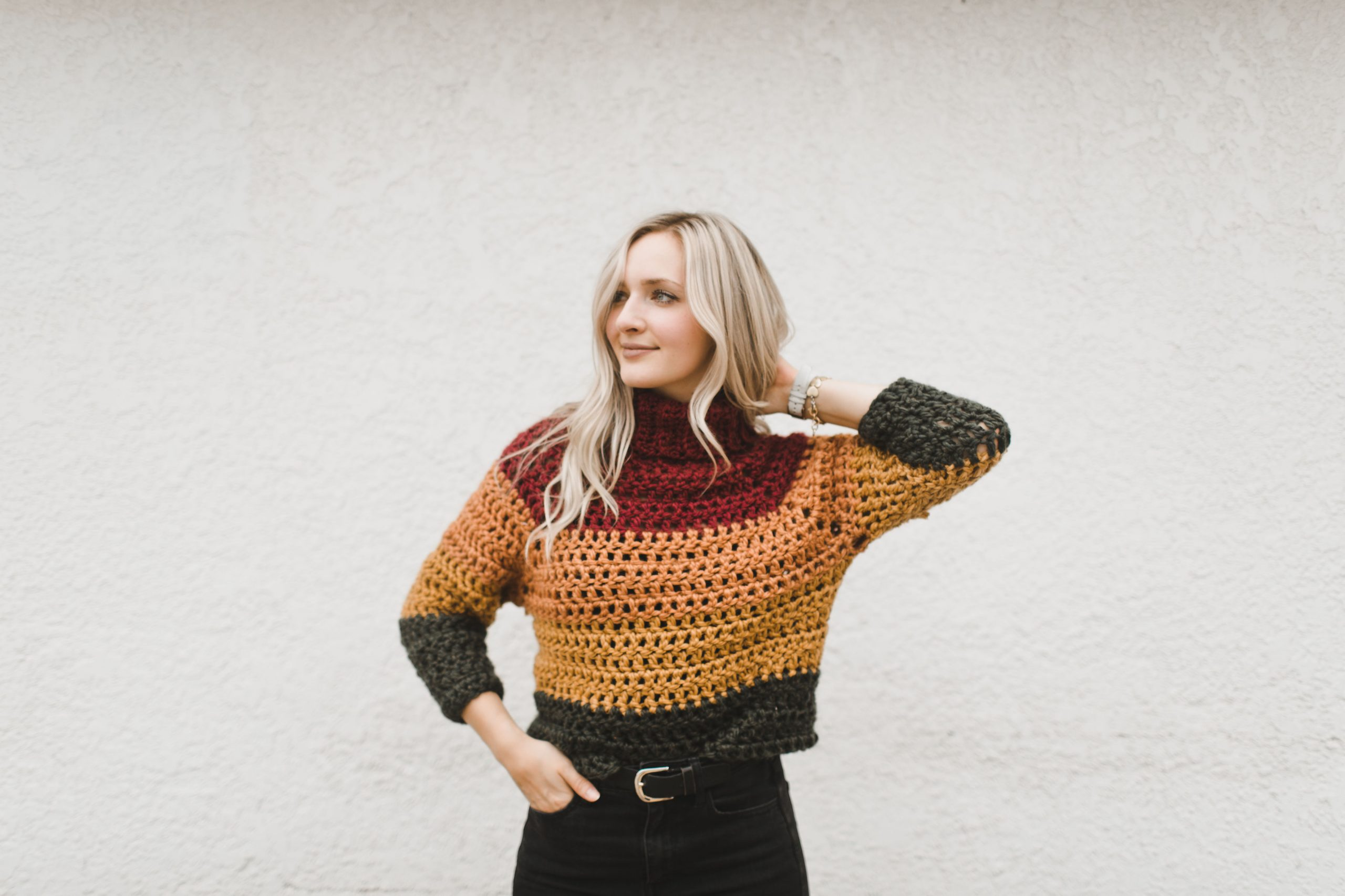 AUTUMN Harvest Stripes Throw Afghan//Crochet Pattern INSTRUCTIONS ONLY