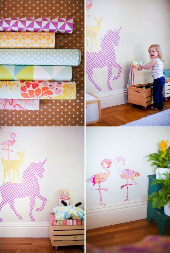 DIY wall decals: knittedbliss.com