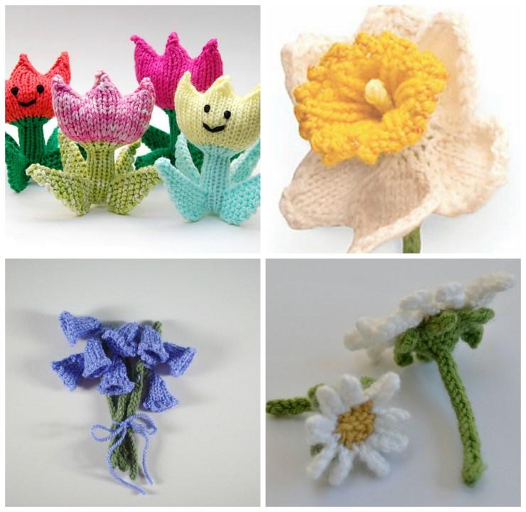 Easter Knitting Ideas: Flower Patterns | knittedbliss.com