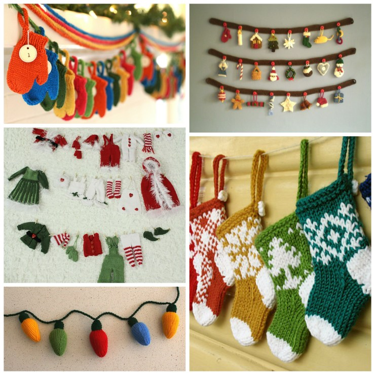 Holiday Knitting: Knitted Garlands | knittedbliss.com