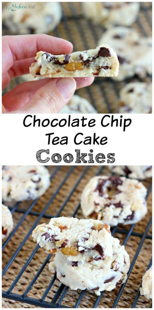 Pin Ups and Link Love: Chocolate Chip Tea Cake Cookies| knittedbliss.com