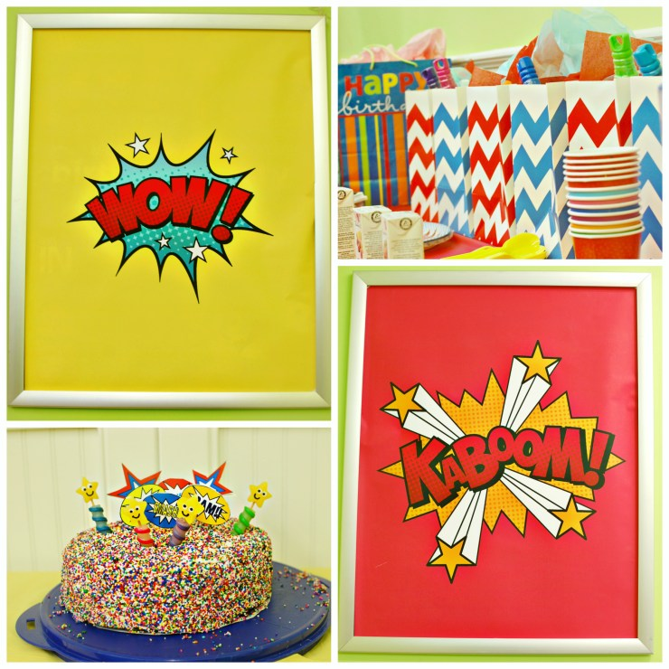 Michaels Superhero Craft Party | knittedbliss.com