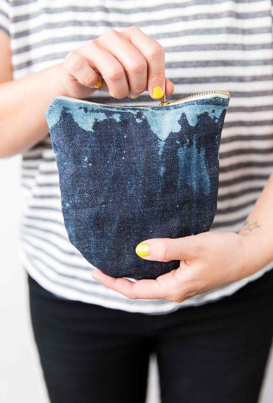 Pin Ups and Link Love: DIY Denim Bag   knittedbliss.com