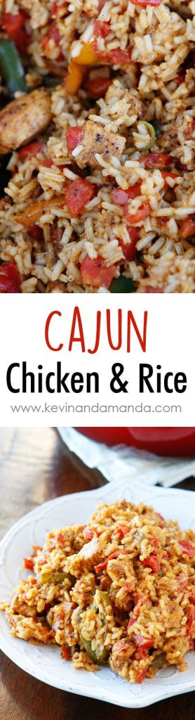 Pin Ups and Link Love: Cajun Chicken & Rice | knittedbliss.com